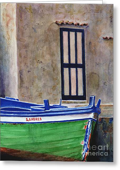 Boat Greeting Cards - The Boat Greeting Card by Karen Fleschler