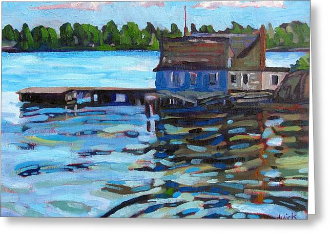 House Greeting Cards - The Boathouse of Zavicon Greeting Card by Phil Chadwick