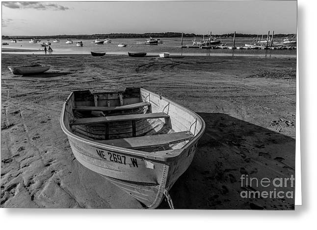 Foggy Ocean Greeting Cards - The Boats of Pine Point Greeting Card by Joe Far Photos