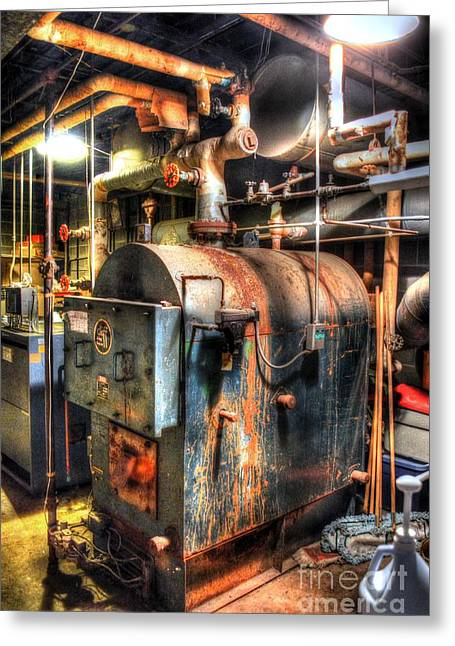 Boiler Greeting Cards - The Boiler Room Greeting Card by Michael Garyet