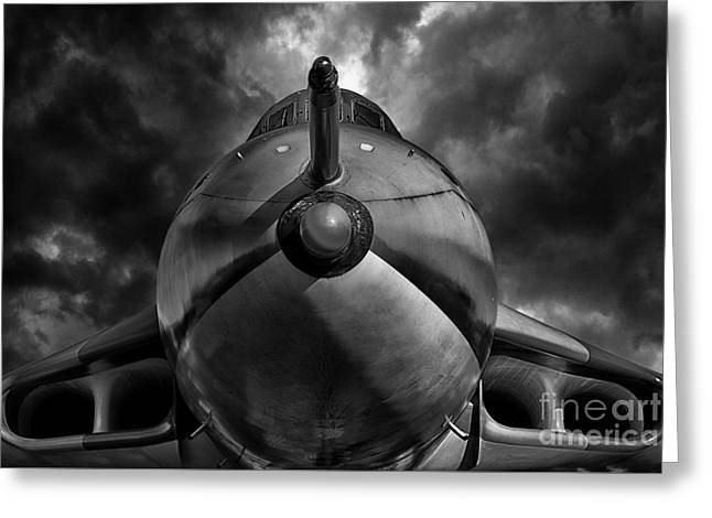 The Bomber Bw Greeting Card by Stephen Smith
