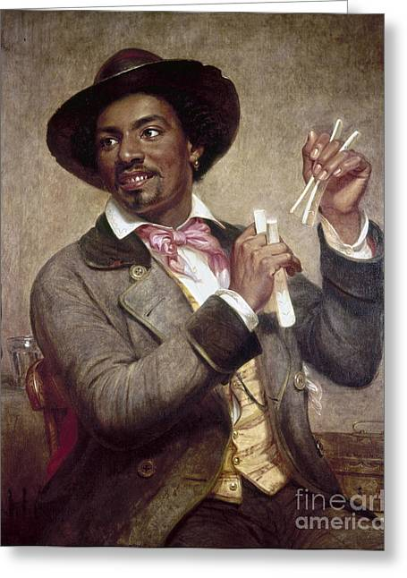 Freed Freedman Greeting Cards - The Bone Player, 1856 Greeting Card by Granger