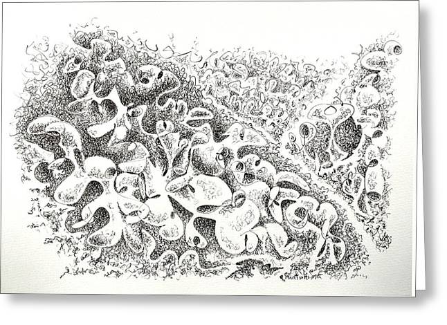 The Boneyard Of Unused Shapes Greeting Card by Dave Martsolf