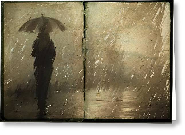 The Book Of Rain Greeting Card by H James Hoff
