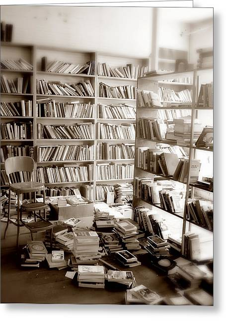 Soft Light Greeting Cards - The Book Store Greeting Card by Mark Wagoner