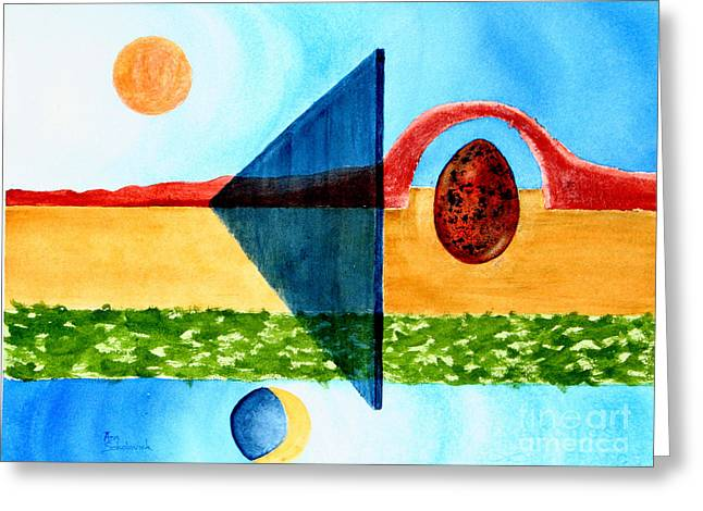 Sokolovich Paintings Greeting Cards - The Border Fence Greeting Card by Ann Sokolovich