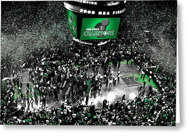 The Boston Celtics 2008 Nba Finals Greeting Card by Brian Reaves