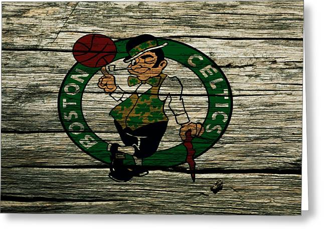 The Boston Celtics 2w Greeting Card by Brian Reaves