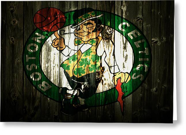 The Boston Celtics 5b Greeting Card by Brian Reaves