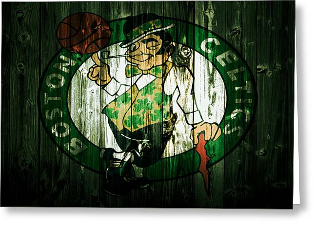 The Boston Celtics 5d Greeting Card by Brian Reaves