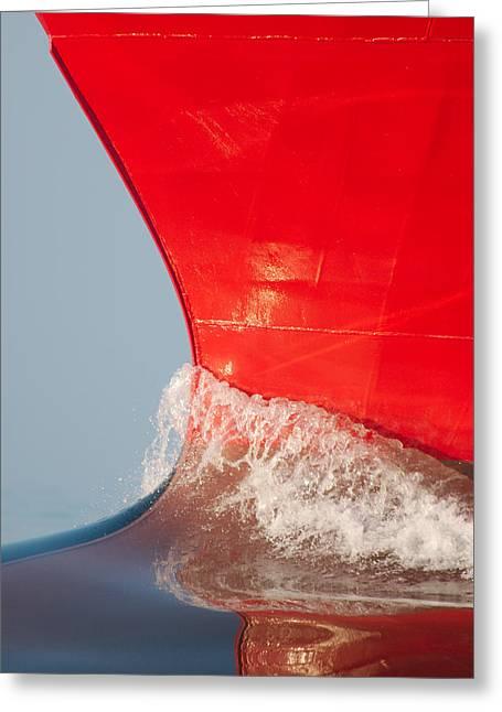 Calm Greeting Cards - The Bow Of Skandi Rona Greeting Card by Bjarne Skogvik