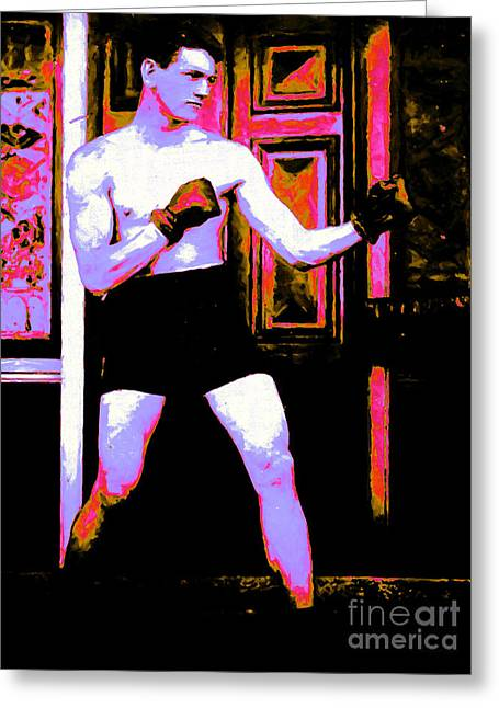 Tough Guy Greeting Cards - The Boxer - 20130207 Greeting Card by Wingsdomain Art and Photography