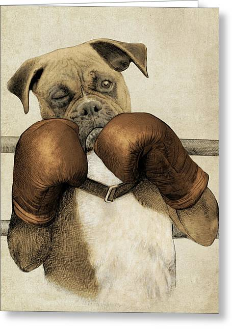 The Boxer Greeting Card by Eric Fan