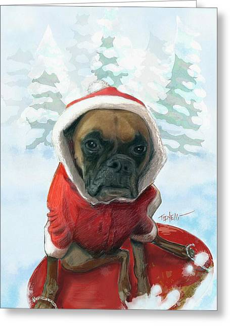 The Heavy Weight Boxer...  Greeting Card by Mark Tonelli