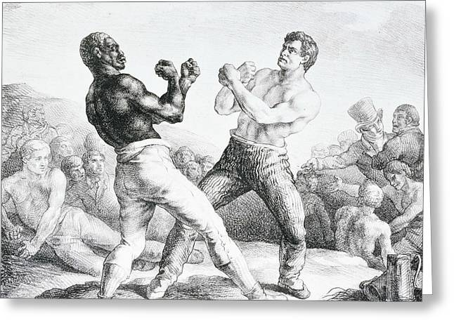 The Boxers  Greeting Card by Theodore Gericault