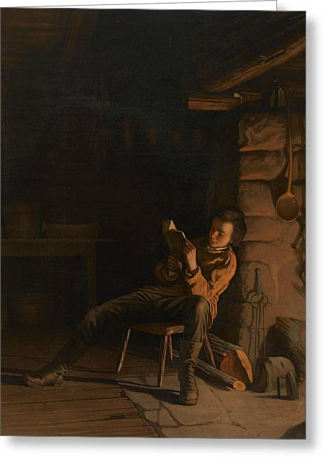 The Boyhood Of Lincoln  Greeting Card by Eastman Johnson