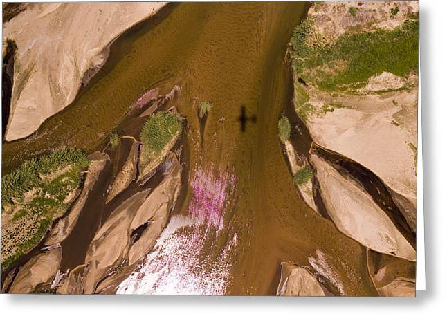 The Braided River Rovuma In The Dry Greeting Card by Michael Fay