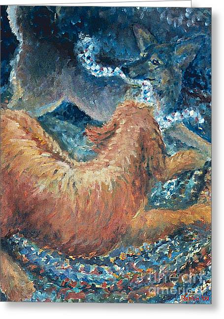Braided Rugs Greeting Cards - The Braided Rug Special Sizing Greeting Card by Jim Rehlin