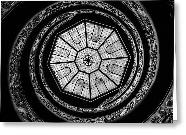 High Stepping Greeting Cards - The Bramante Staircase Greeting Card by Erik Brede