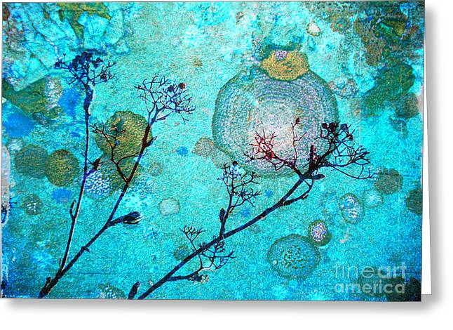 Rust Greeting Cards - The Branches and the Moon Greeting Card by Tara Turner