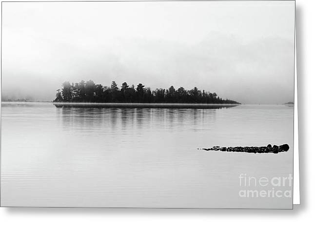 The Breaking Fog Greeting Card by Cathy  Beharriell