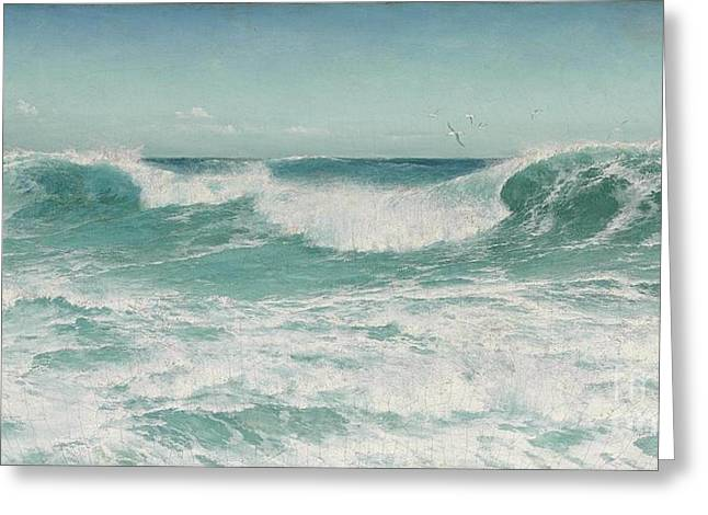 The Breaking Wave Greeting Card by Celestial Images