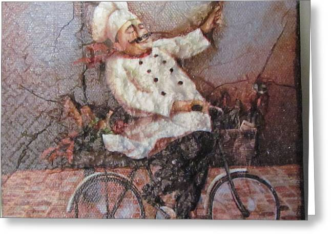 Greeting Cards - Baked Fresh Daily Greeting Card by Joyce Woodhouse