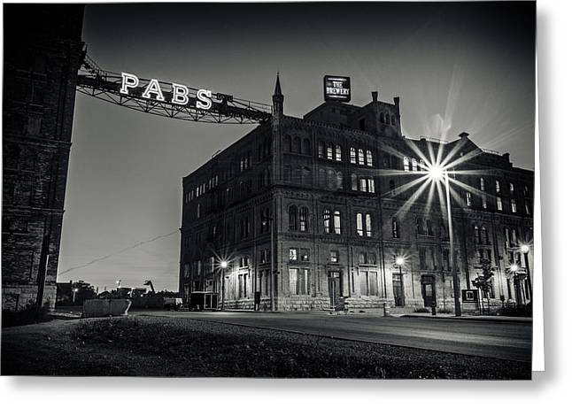 Pbr Greeting Cards - The Brewery Greeting Card by CJ Schmit