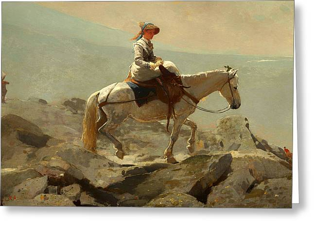 Just Married Greeting Cards - The Bridal Path - White Mountains Greeting Card by Winslow Homer