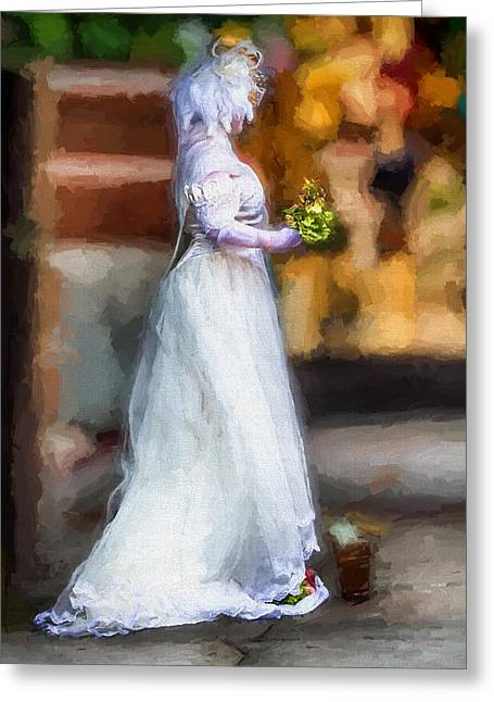 Dress Greeting Cards - The Bride Greeting Card by John Haldane