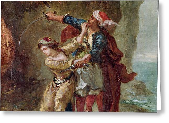 The Bride of Abydos Greeting Card by Ferdinand Victor Eugene Delacroix