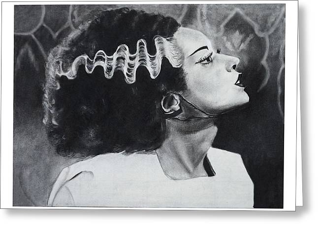 Classic Horror Greeting Cards - The Bride Of Frankenstein Greeting Card by Create Art