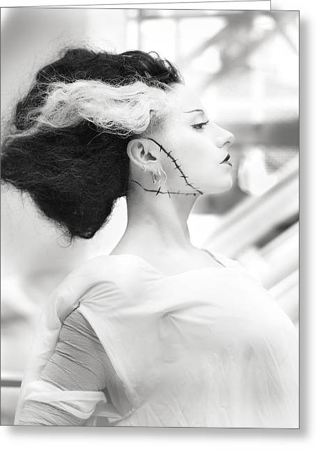 Cosplay Photographs Greeting Cards - The Bride of Frankenstein Greeting Card by Hsin Liu