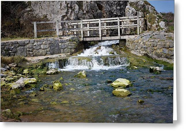 The Hills Greeting Cards - The Bridge 3  Greeting Card by David G Bevan