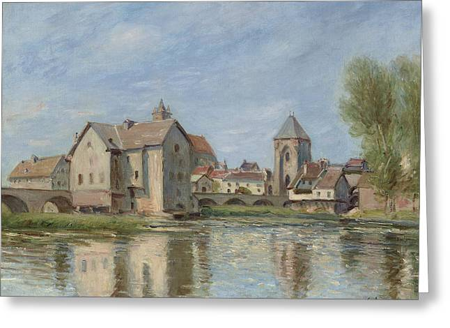 The Bridge And Mills Of Moret Sur Loing Greeting Card by Alfred Sisley