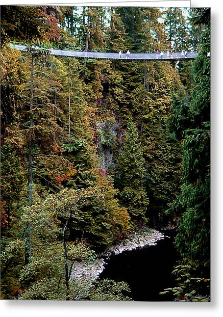 Tourist Trap Greeting Cards - The Bridge Greeting Card by Joseph G Holland