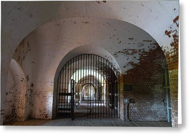 Mccoy Greeting Cards - The Brig at Fort Pulaski Greeting Card by A Different Brian Photography