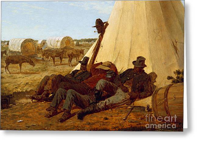 Winslow Homer Greeting Cards - The Bright Side Greeting Card by Celestial Images