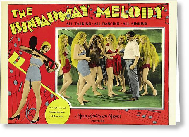 The Broadway Melody 1929 Greeting Card by Mountain Dreams