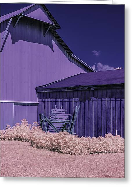 Outbuildings Greeting Cards - The Broken Fence Greeting Card by Joseph Yvon Cote