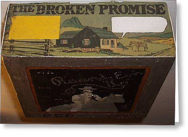 Merged Mixed Media Greeting Cards - The Broken Promise Greeting Card by William Douglas