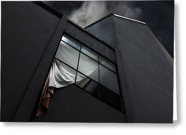 Windows Photographs Greeting Cards - The Broken Window Greeting Card by Gilbert Claes