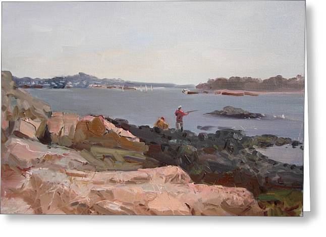 The Bronx Greeting Cards - The Bronx Rocky Shore Greeting Card by Ylli Haruni