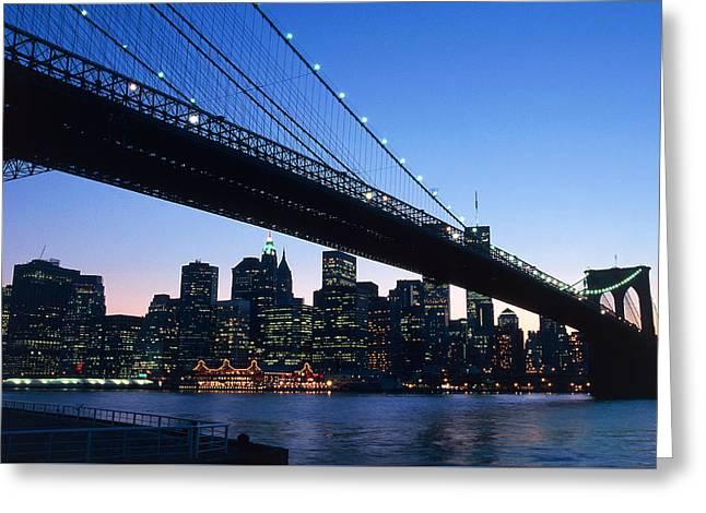 The Brooklyn Bridge Greeting Card by American School