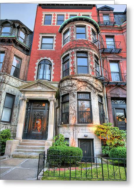 Boston Ma Greeting Cards - The Brownstone  Greeting Card by JC Findley