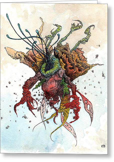 Alien Drawings Greeting Cards - The Brylar  Greeting Card by Ethan Harris