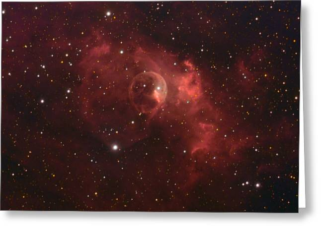 The Bubble Nebula Greeting Card by Charles Warren