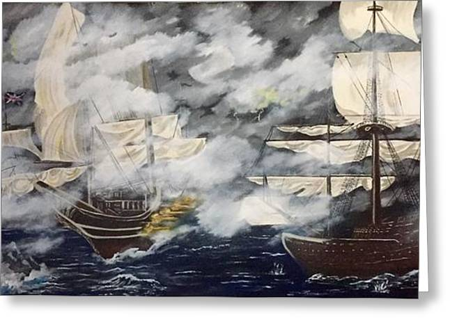 Foggy Ocean Greeting Cards - The Buccaneers  Greeting Card by Tim Dobert