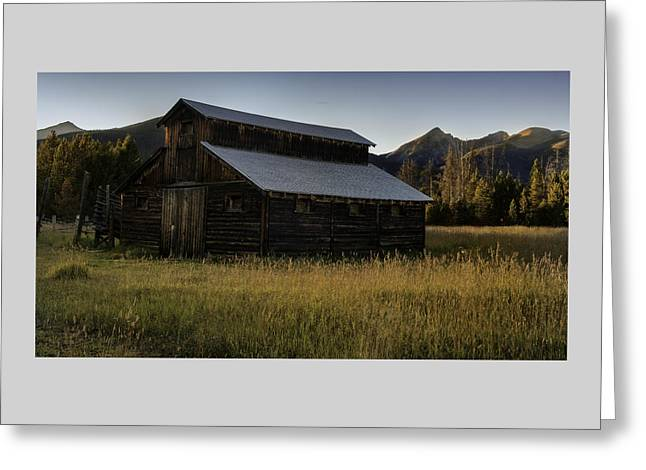 Shack Greeting Cards - The Buckaroo Barn - A Historic Homestead Greeting Card by Thomas Schoeller