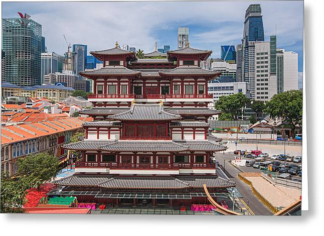 Religion Greeting Cards - The Buddha Tooth Relic Temple Greeting Card by Anek Suwannaphoom